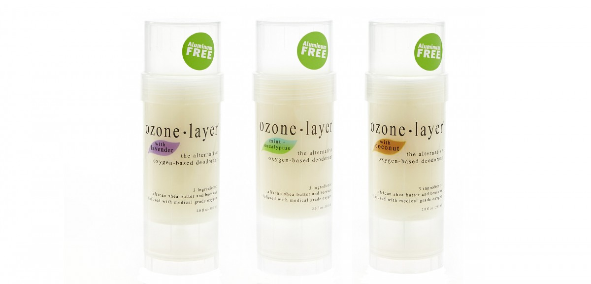 All natural deodorant infused with oxygen, 2 ingredient Ozone Layer Deodorant_3-Pack