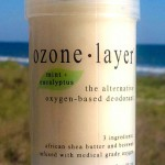all natural Ozone Layer Deodorant with eucalyptus + mint fragrance, now available in seven scents including unscented.