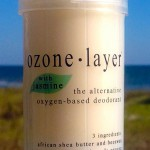 all natural Ozone Layer Deodorant with jasmine fragrance, now available in seven scents including unscented.