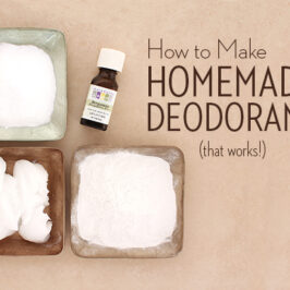 all natural deodorant recipe