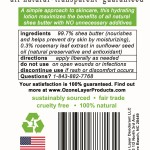 2 Ingredient Shea Butter Lotion - ingredients label